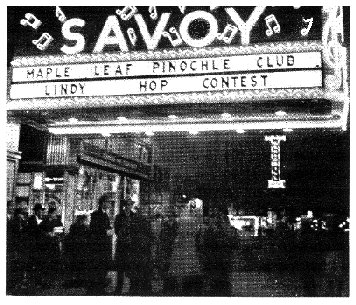 Savoy Ballroom, home of the Lindy Hop, the original swing dance