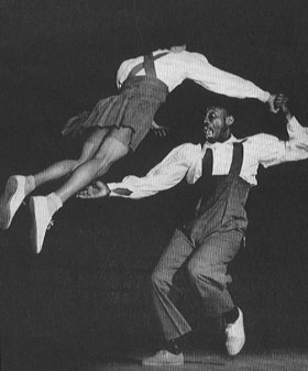 Frankie Manning doing Lindy Hop Aerials